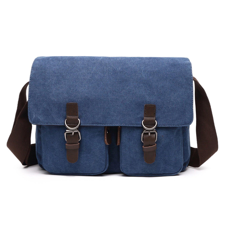 5e82a8940649 Get Quotations · NOTAG Casual Messenger Bag for Men Vintage Canvas Shoulder  Bag Anti-Theft Crossbody Bag with