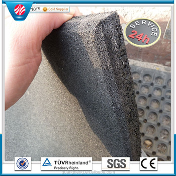 Durable Garage Crossfit Gym Rubber Floor Tiles Black 40 Mm Thick