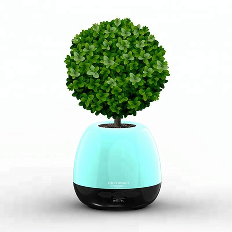 Hot Sale Smart Music Vase Music Flower Pot Colorful Led Speaker