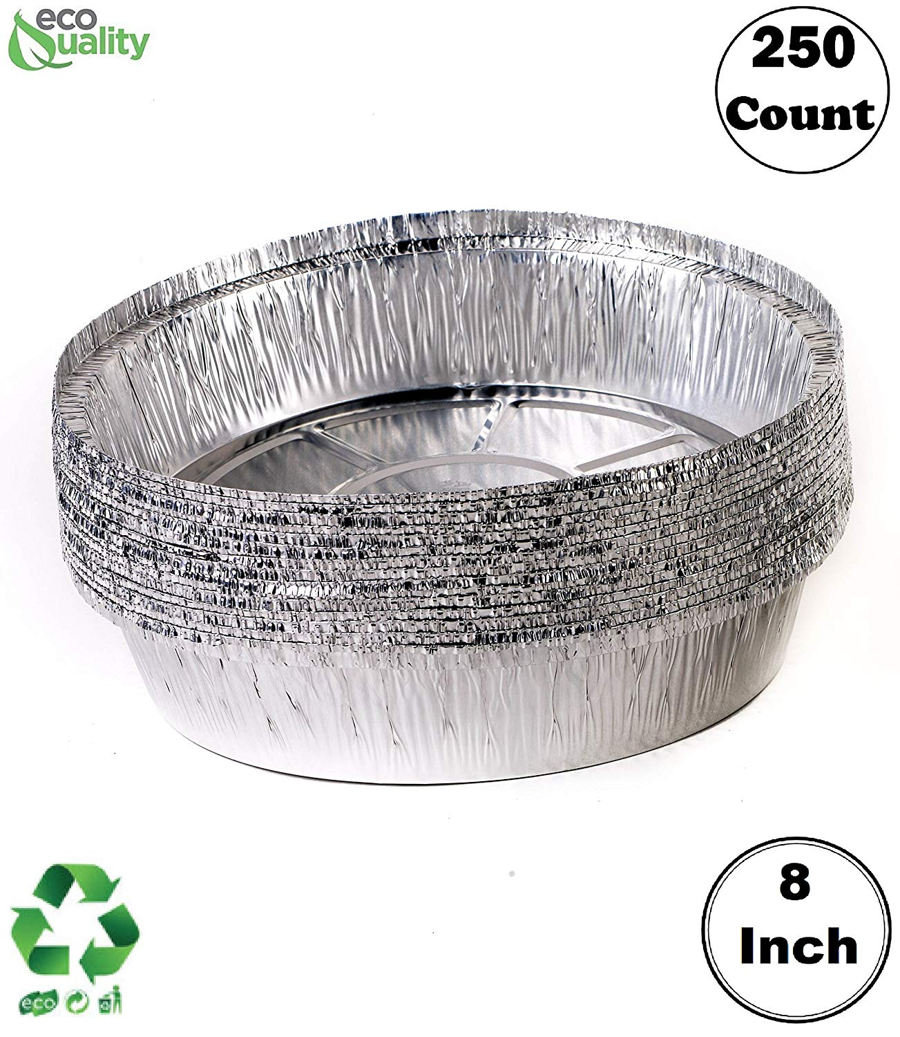 HFA//DPI 12 Round Flat Aluminum Foil Catering Serving Tray w//Clear Dome Lid pack of 50