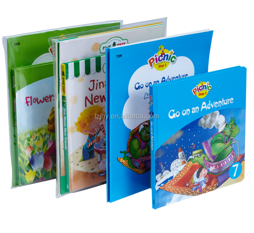 Waterproof poly bag packed book printing overseas child book printing for baby