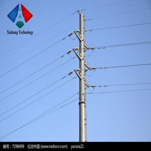 50 foot mast monopole 230kv tower 132kv steel electric power pole