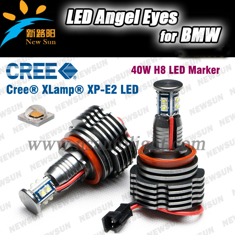 High Power Angel Eye Light H8 40w Led 7000k White Hid Replacement ...