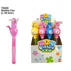 2 in 1 Cartoon Style Hand Shake Blow Bubble Set Fan Toy