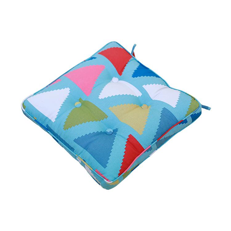 2018 New design oriental thick bright colorful undular custom digital print seat cushion