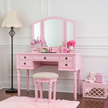 Bedroom Furniture Wooden Dressing Table Furniture Vanity Table Mirror Makeup Table