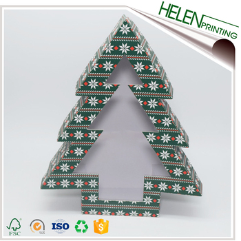 Custom Full Color Cardboard Paper Christmas Tree Storage Box Buy