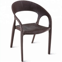 Wholesale cheap modern Leisure garden pp plastic rattan chair