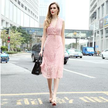 2018 New Fashion Lady Pink Panjang Gaun Normal Buy Lady Pink