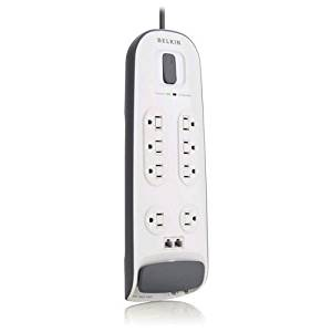 Belkin BV108200-06 8-outlet Surge Protector with 6 ft Power Cord with Telephone Protection - Surge suppressor - 1.875 kW - 8 output connector(s)