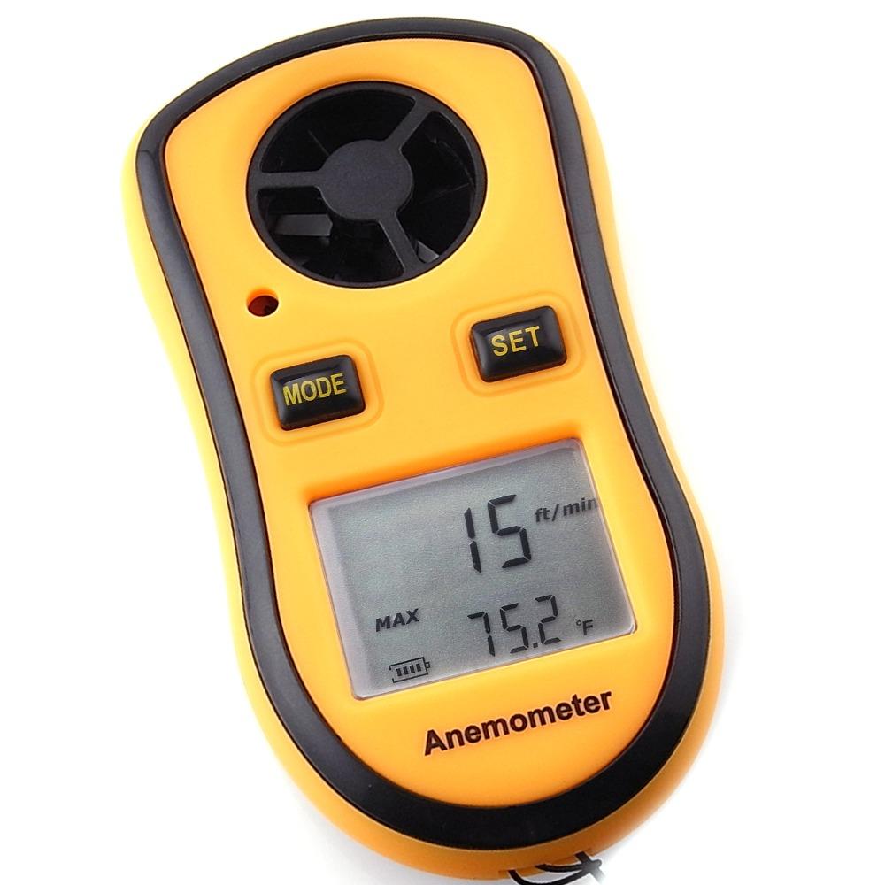 Anemómetro Digital Medidor de velocidad del viento Cordón thermomoter Vela Manual Del Usuario