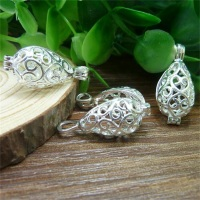 antique silver / bronze Filigree drop Cage Locket pendant,Diffuser Locket charms Fillable wish box locket findings
