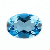 Best price natural oval cut sky blue crystal