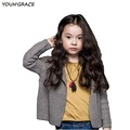 2016 New Design 3 13T Girls Casual Knitted Single Button Sweater Brand European Style Princess Girls