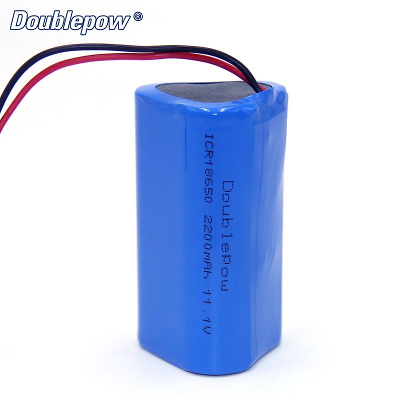 2S1P 18650 11.1v 12V 2200mah li ion rechargeable battery pack