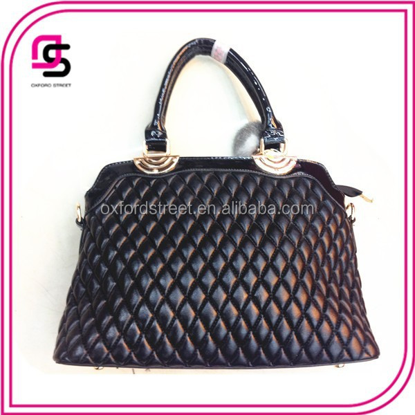 Fashion Black Medium Tote Hand bag For Women