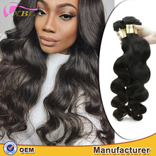XBL healthy 100 human body wave remy virgin raw Burmese hair