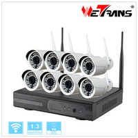 No Need Cable Connection 8CH 960P Wireless NVR and Outdoor IP Camera Wireless CCTV System