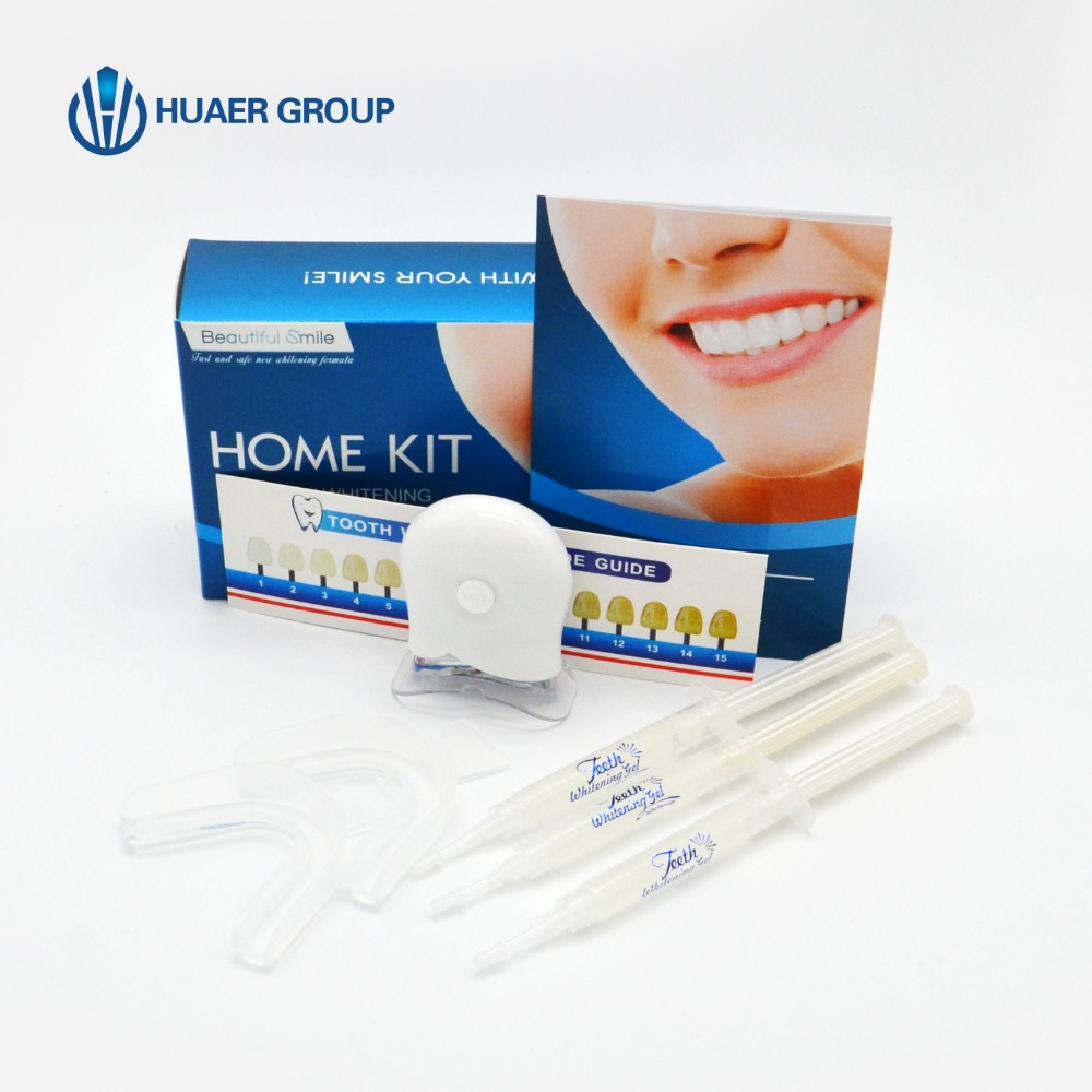 Tanden Kit 35% Tooth Bleken Gel Kit 2 Thermo Forming Tandheelkundige Trays LED Acceleratie Licht
