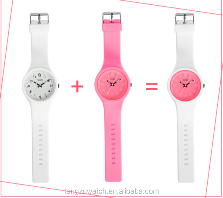 2016 top sale Alibaba silicon watch for unisex cheap promotional interchangeable jelly watch
