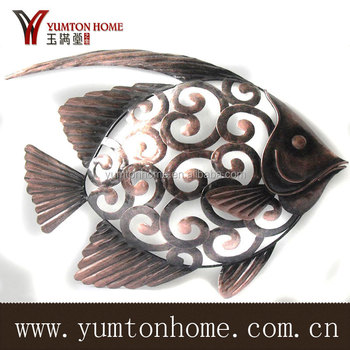Metal Decorative Vivid Fish Wall Art
