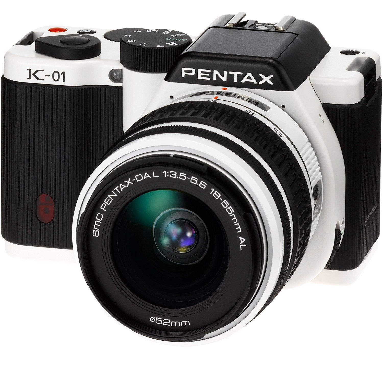 PENTAX digital SLR camera K-01 zoom lens Kit white / black K-01ZK WH / BK