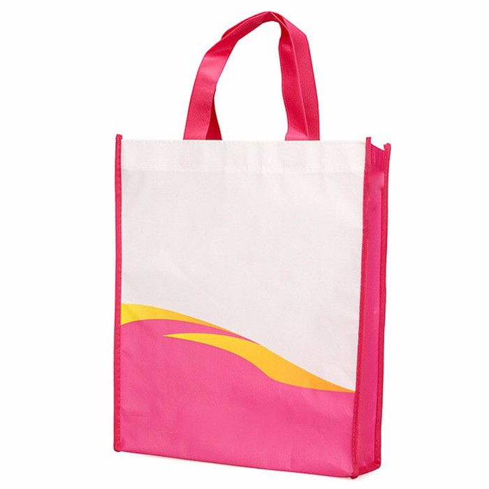 LIN Cheap custom printed promotional foldable non-woven shopping bags