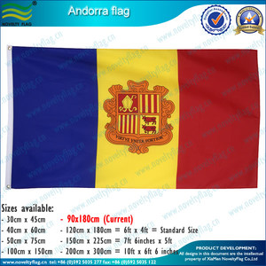 Red yellow blue flag/ The Principality of Andorra