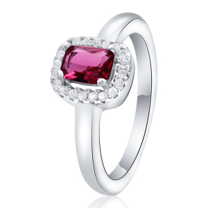 POLIVA Cheap Price Wholesale Red Coral Stone Garnet 925 Sterling Silver Prong Setting Cluster Rings for Women