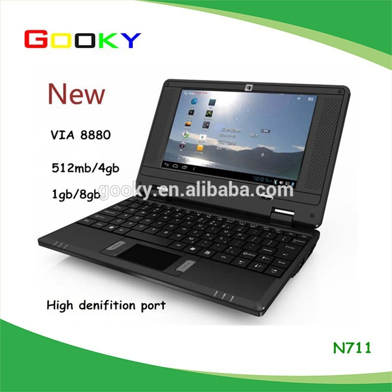 Hot selling 1GB/8GB Dual Core Android 7 inch mini laptop with various color