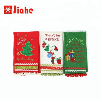 Holiday time christmas decor wholesale kitchen towel