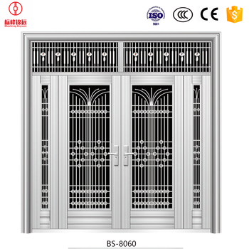 Security Stainless Steel Door Grill Design Catalogue Steel ...