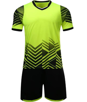 ced598f0e 2018 season new style no logo black green soccer uniform customized cheap  soccer jersey set