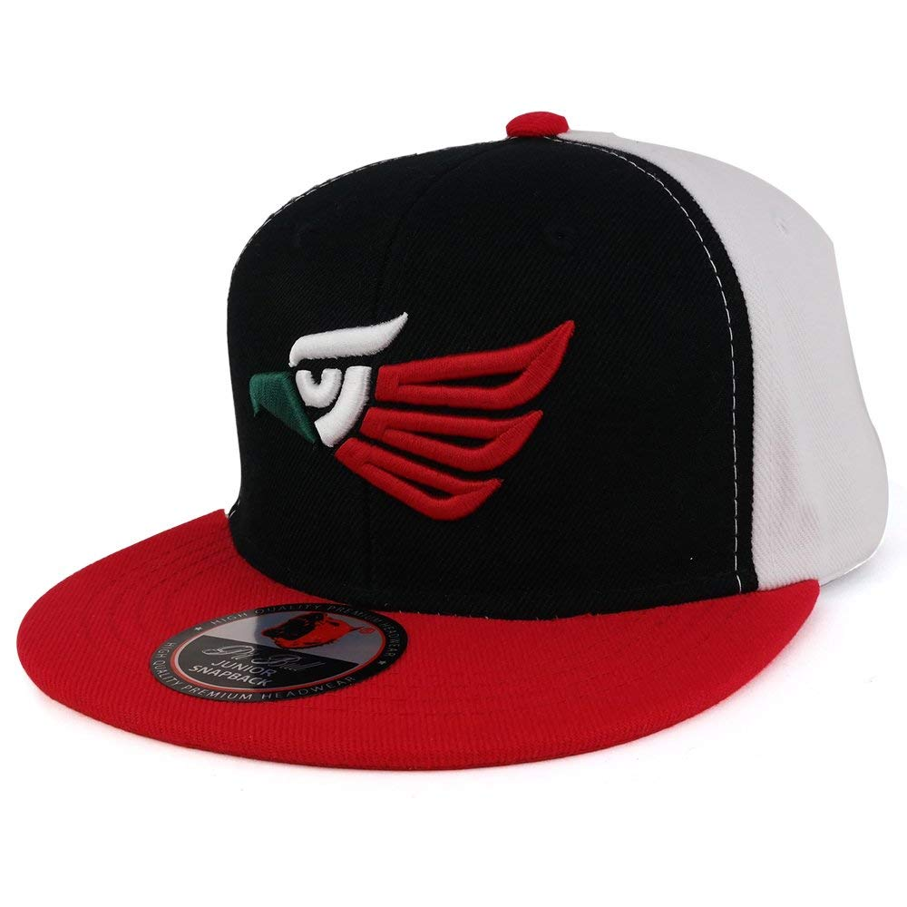 b4d087b1c5c3a4 Get Quotations · Trendy Apparel Shop Hecho EN Mexico Kids 3D Eagle  Embroidered Logo Flatbill Snapback Cap
