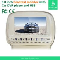 Universal 12V 9inch remote control car lcd headrest dvd