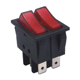 16A 250V (On)-Off 6 Pin Momentary Rocker Switch T125