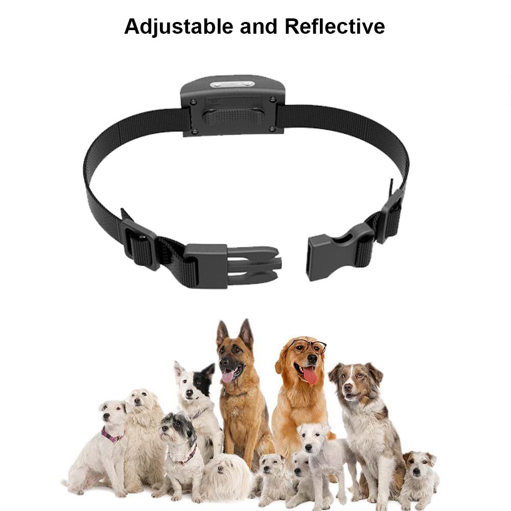 Pet Erziehungshalsband DC680V Wasserbeständigkeit Vibrierende Hund Antibell Kragen