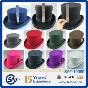 100% Australia Wool Felt Top Hats Cheap - Buy Top Hats Cheap 7979cef3ad6