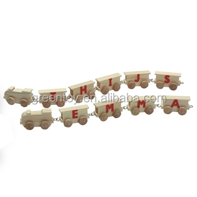 Wooden educational alphabet train toy