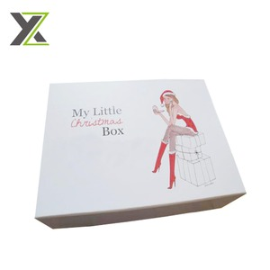 Christmas snow white paper gift box