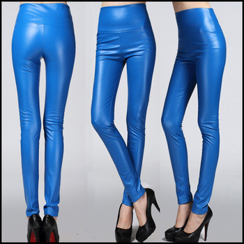 0bb840f1c2397e China Oem Wholesale Womens Punk Wet Look Stretchy Faux Leather Leggings  Tights Leather Pants