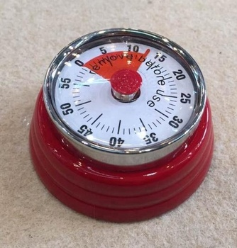 Personalized Round Red metal retro dial timer