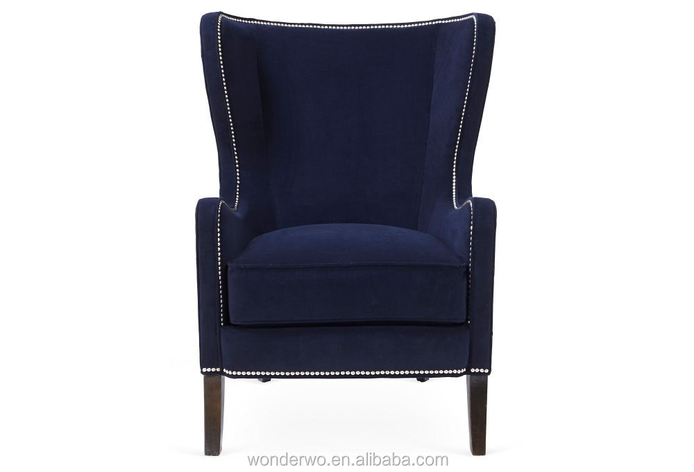 Dempsey Wingback Chair, Navy, Armchair Alibaba Furniture