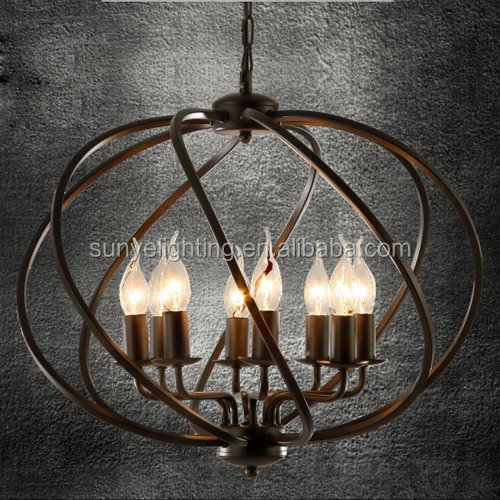 Industrial Iron Vintage Retro Pendant Light Edison Metal Globe Shade Hanging Ceiling Light Cage Chandelier Pendant light