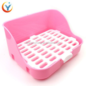 Pet Bunny Toilet Guinea Pig Chinchilla Toilet With Plastic Mesh Easy to wash Small Pets