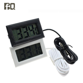 1Pc LCD Digital Thermometer for Freezer Temperature Refrigerator Fridge Hygrometer Digital Thermometer