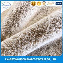 high quality 100% polyester imitation faux rabbit fur fabric for boots,shoes,winter coat,car seat cover