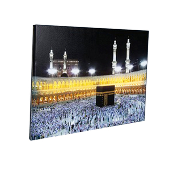 Landscape building still life waterproof hand-mounted lamp With Sequins Islamic Painting Canvas Wall Art