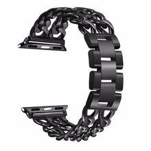 Браслет из нержавеющей стали для Apple Watch 5 4 3 2 1 38 мм 42 мм 40 мм 44 мм ремешок металлический ремешок для iWatch Series 5 4 3 2 1(Китай)