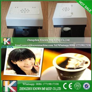 Protable Wifi Use 3d Food Coloring Ink Printing Selfie Coffee ...